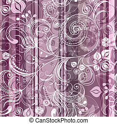 Striped pink floral pattern - Pink and gray striped seamless...