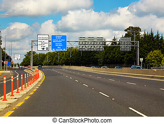 M4 Motorway to Galway from Dublin, Ireland.