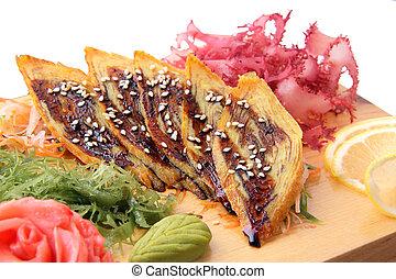 sashimi, tabla,  tamago