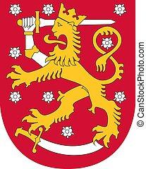 finlande, manteau, bras