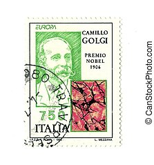 italian post stamp nobel Camillo Golgi
