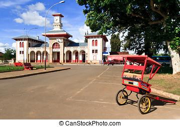 Antsirabe - The railway station of Antsirabe, Madagascar...