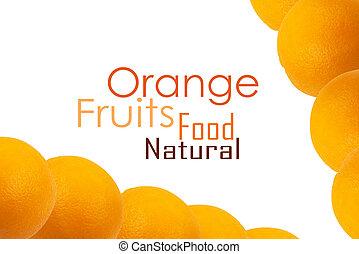 orange background isolated on white