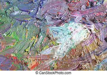 Texture of oil color