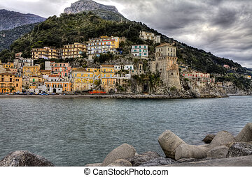 Cetara, italian fishing village, of Amalfi coast