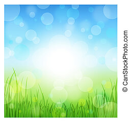 Summer Abstract Background with grass. Vector illustration....