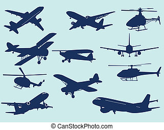 In the air - Airplanes and helicopters