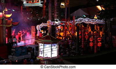 Chinese New Year Celebrations in Chinatown, Bangkok,...