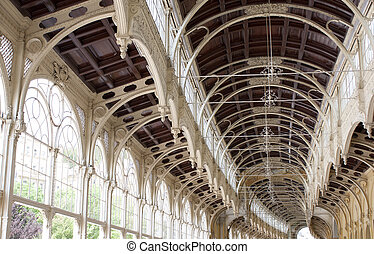 Colonnade in Marianske Lazne, Czech Republic - Spring water...