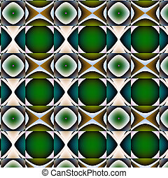Non-figurative embossed pattern - Curlicue with green,...