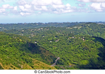 puerto rico - view of the Puerto Rico countryside ,ciales...