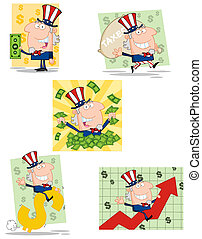 Uncle Sam Cartoon Characters