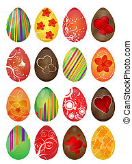 Easter eggs - Vector illustration of Easter eggs