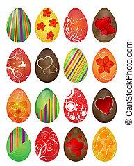 Easter eggs  - Vector illustration of Easter eggs