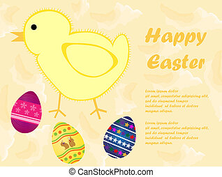 Happy Easter card - Vector illustration of Happy Easter card