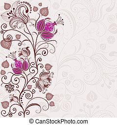 Gentle floral easter frame