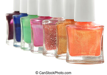nail polish in different colors - set of nail polish in...