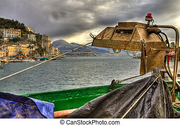 Fishing-lamp (Lampara) in Cetara,Amalfi coast HDR