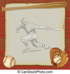 Vintage Baseball Party Invitation - Rustic, vintage baseball...