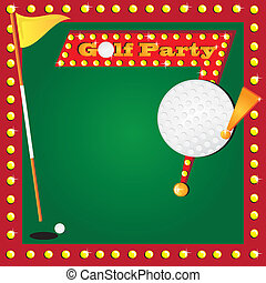 Retro Miniature Golf Invitation
