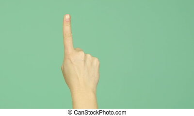 Fingers counting - Set of hand gestures, showing fingers...