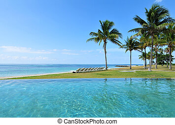Beach Resort - Beautiful tropical beach resort in the...