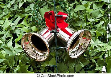 red satin gift bow. Ribbon