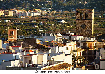 Javea Village - Javea village in Alicante, Spain.