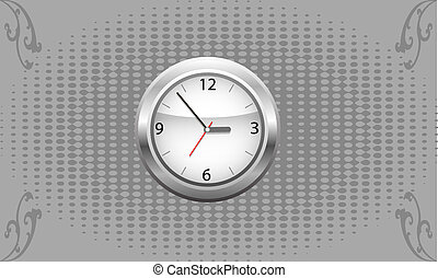clock on a gray background