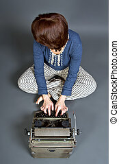 Retro style tipewriter for touch system Touch-typist