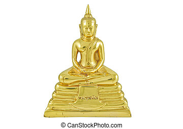 The front side of the brass image of Buddha, Phra Buddha Sothorn