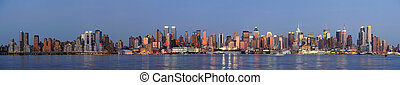 New York City Manhattan over Hudson River - Hudson River...