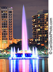 Fountain closeup in Orlando - Fountain closeup with Orlando...