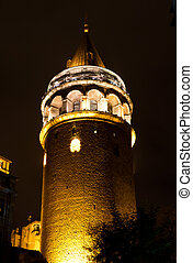 Galata Tower from Istanbul, Turkey