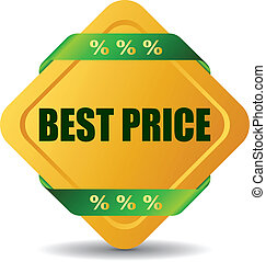 Vector best price icon