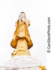 Kuan Yin, golden - Golden Kuan Yin is revered by Buddhists