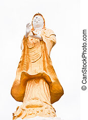 Kuan Yin, golden - Golden Kuan Yin is revered by Buddhists