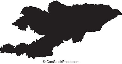 Vector illustration of maps of  Kyrgyzstan