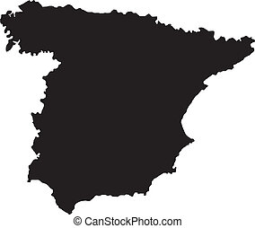 Vector illustration of maps of   Spain