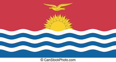 Vector illustration of the flag of  Kiribati