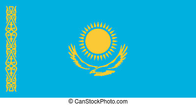 Vector illustration of the flag of Kazakhstan