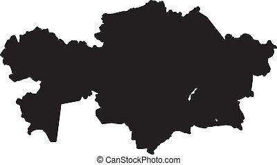 Vector illustration of maps of  Kazakhstan