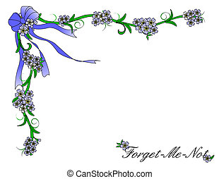 Forget Me Not Border - A border of Forget Me Not flowers and...