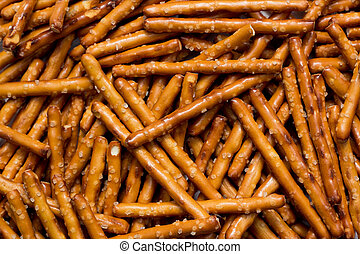 Pretzel Sticks - Pile of pretzel sticks.
