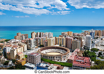 Malaga Cityscape - Sea - Malaga - view of the city in summer