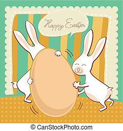 Funny Easter greeting card