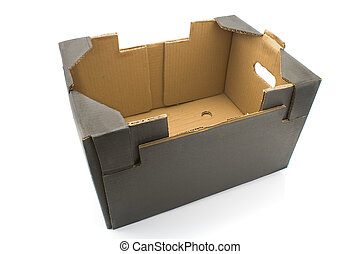 Brown cardboard box - Brown cardboard box isolated on white...