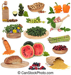 Large Food Collection - Large collection of healthy food...