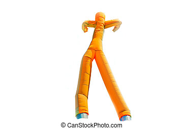 Inflatable man - Dancing inflatable man isolated on white...