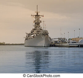 USS Missouri at Pearl Harbor - The Battleship USS Missouri...